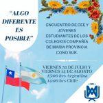 Encuentro virtual, entre los Centros de Alumnos de los colegios Compañía de María de Chile y Argentina