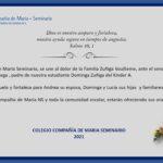 Condolencias Familia Zúñiga Voullieme